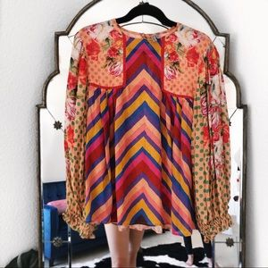 Anthropologie blank eclectic peasant blouse